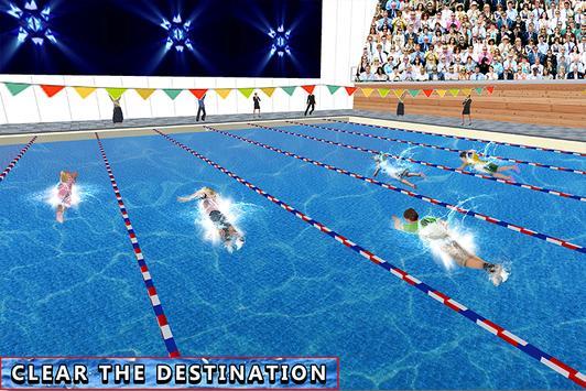 Campeonato de natación acuática para niños captura de pantalla 2