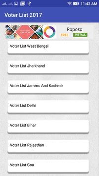 Voter List 2017 Online - India screenshot 1