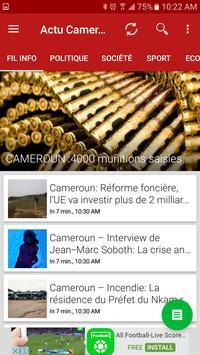 Actu Cameroun  – Latest News poster
