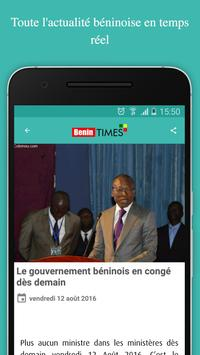 Benin times (News, actus ....) apk screenshot