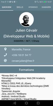 CV Julien CEVAER poster