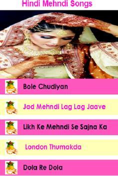 Hindi Mehndi Songs apk screenshot