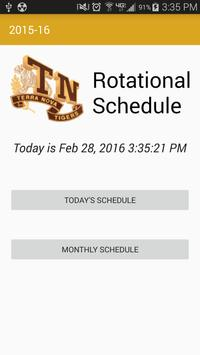 TN Rotational Schedule poster