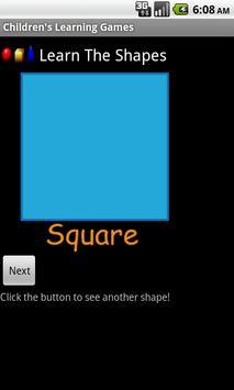 Children's Learning Games apk screenshot
