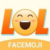 Cool hot words emoji sticker icon