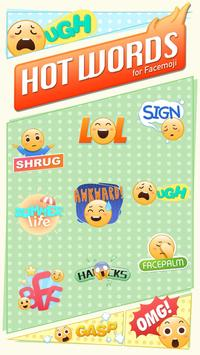Cool hot words emoji sticker screenshot 1