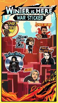 War Chat Sticker for GOT poster