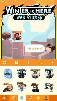 War Chat Sticker for GOT apk screenshot