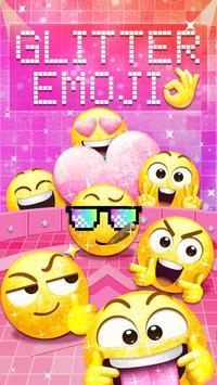 Glitter Emoji Sticker for Messenger poster