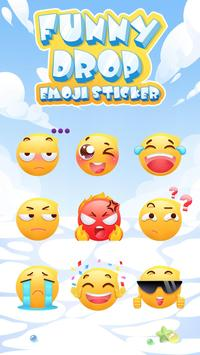 Funny Drop Emoji Sticker скриншот 1