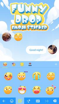 Funny Drop Emoji Sticker скриншот 2