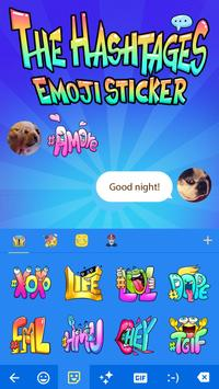 #The Hashtags Emoji Sticker With Funny Emotions screenshot 2