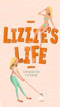Lizzie's Life Sticker poster