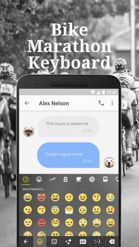 Bike Marathon Keyboard Theme & Emoji Keyboard poster