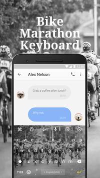 Bike Marathon Keyboard Theme & Emoji Keyboard apk screenshot