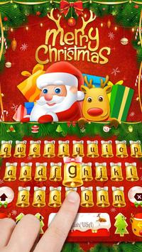 Merry Christmas & Santa Claus New Year Keyboard poster