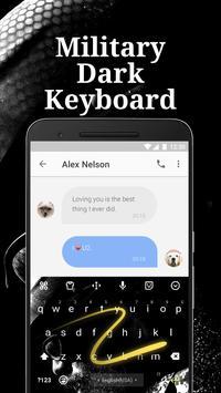 Military Dark Emoji Keyboard Theme for Instagram apk screenshot