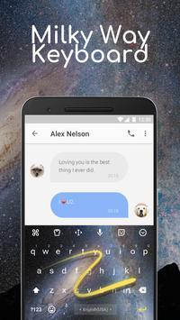 Milky Way Keyboard Theme and emoji for Twitter apk screenshot