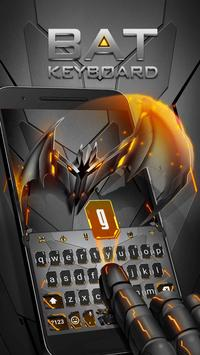 Neon Vampire Bat Hero Keyboard Theme for Android poster