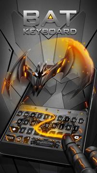 Neon Vampire Bat Hero Keyboard Theme for Android screenshot 2