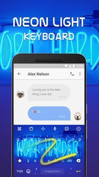 Neon Light Emoji Keyboard Theme for Whatsapp screenshot 3
