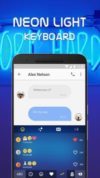 Neon Light Emoji Keyboard Theme for Whatsapp screenshot 2