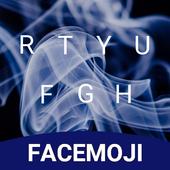 Neon Smoke Keyboard Theme & Emoji Keyboard icon