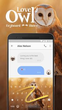 Lovely Owl Keyboard Theme for Whatsapp apk screenshot