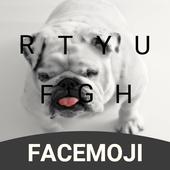 English Bulldog Emoji Keyboard Theme For Snapchat icon