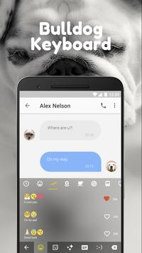 English Bulldog Emoji Keyboard Theme For Snapchat apk screenshot
