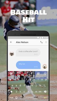 Baseball Hit Emoji Keyboard Theme for MLB all star apk screenshot