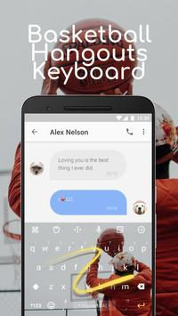 Basketball Hangouts Emoji Keyboard Theme for pof screenshot 3