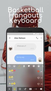 Basketball Hangouts Emoji Keyboard Theme for pof screenshot 2
