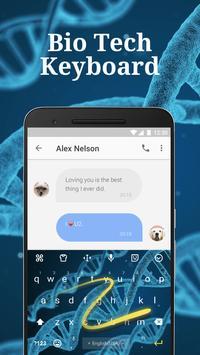 Bio Tech Keyboard Theme & Emoji Keyboard apk screenshot