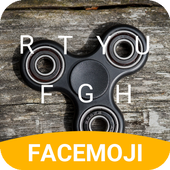 Black Fidget Spinner Keyboard Theme for hangouts icon
