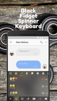 Black Fidget Spinner Keyboard Theme for hangouts apk screenshot