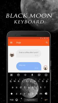 Black Moon Keyboard Theme & Emoji Keyboard apk screenshot