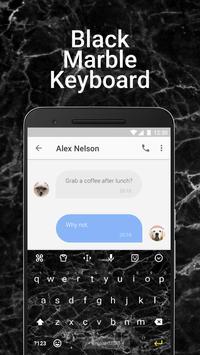 Black Marble Emoji Keyboard Theme for Facemoji apk screenshot
