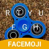 Blue Fidget Spinner Keyboard Theme for Samsung icon