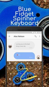 Blue Fidget Spinner Keyboard Theme for Samsung apk screenshot
