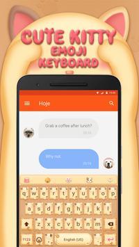 Cute Kitty Emoji Keyboard Theme for Facebook apk screenshot