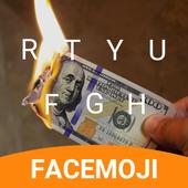 Burn Dollar Spoof Keyboard Theme for Snapchat icon