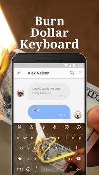 Burn Dollar Spoof Keyboard Theme for Snapchat apk screenshot