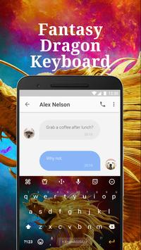 Fantasy Dragon Keyboard Theme for Facebook apk screenshot