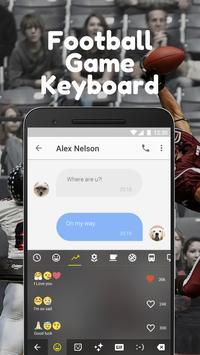 Football Game Keyboard Theme for Snapchat screenshot 2