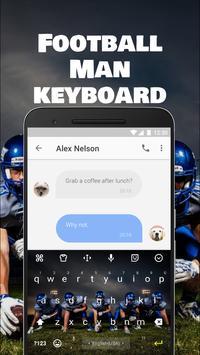 Football Team Keyboard Theme for Snapchat screenshot 1