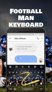 Football Team Keyboard Theme for Snapchat screenshot 3