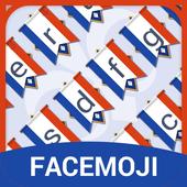 Thème du drapeau français jour de la Bastille icon
