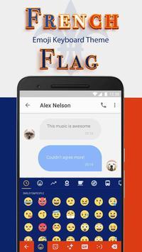 Thème du drapeau français jour de la Bastille poster
