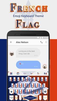 Thème du drapeau français jour de la Bastille apk screenshot